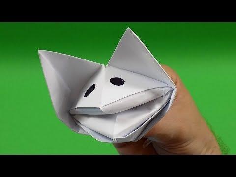 Easy Dog Hand Puppet DIY - Paper Hand Puppet Craft - Easy Dog DIY