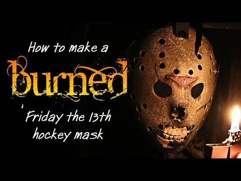 """How to Make a """"Burned"""" Jason Mask - Friday the 13th DIY Tutorial."""
