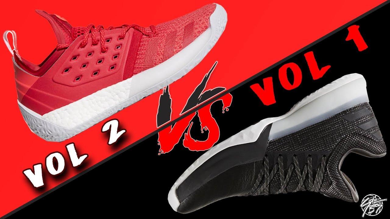 9490df9316e69b Adidas Harden Vol. 2 vs Harden Vol. 1! The Sole Brothers