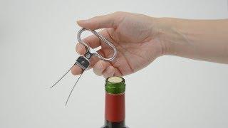 サントリーワインスクエア 失敗しないワインの開け方『コルク番外篇(ワインオープナー:T字型/ハサミ型/ウイング型/スクリュープル型)』 4分54秒 サントリー