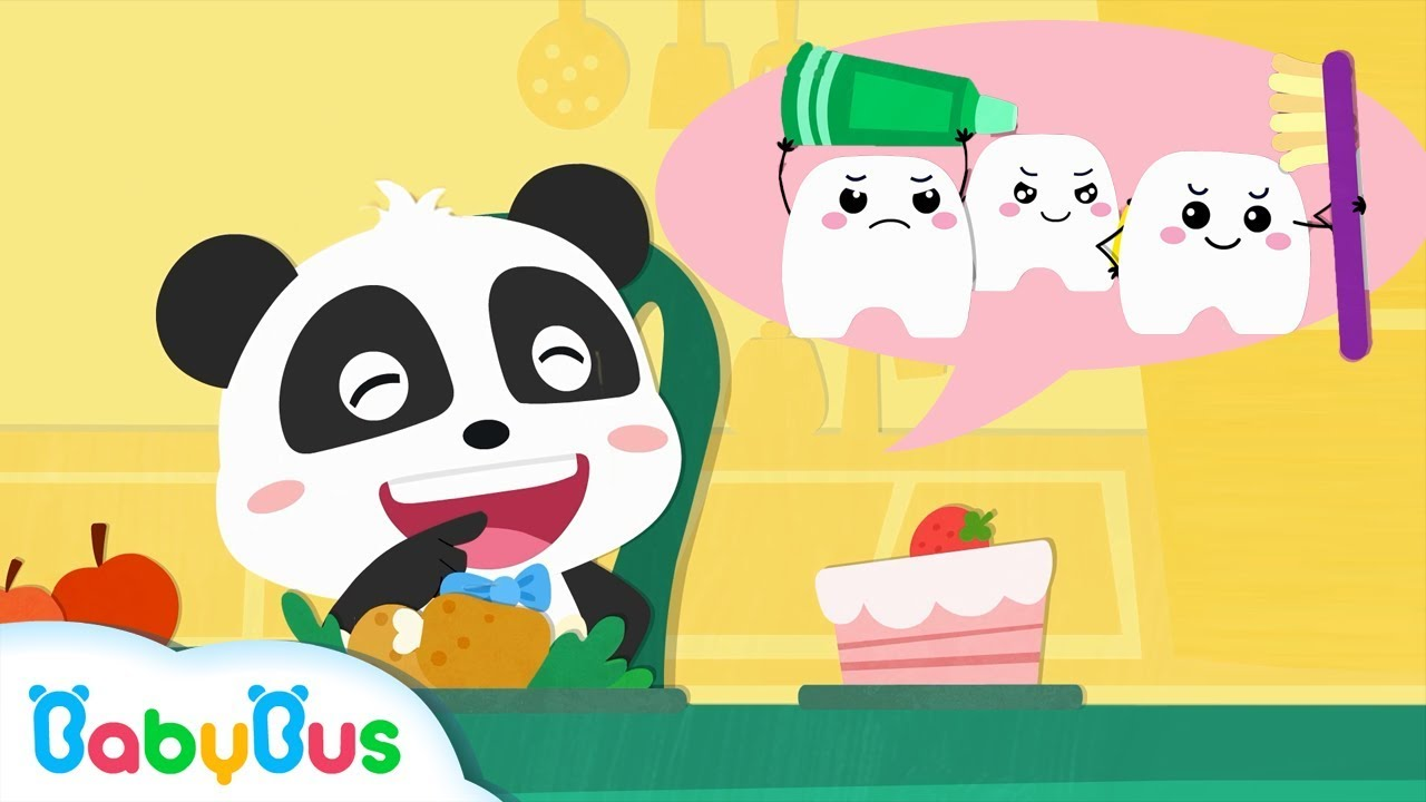 Baby Panda's Strong White Teeth | Functions of Teeth for Kids | Kids Good Habits | BabyBus