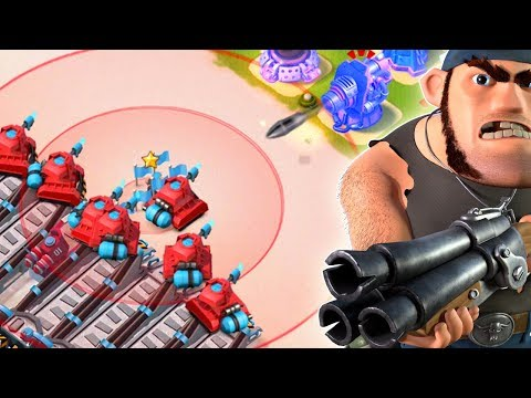 Private Bullit's Taunt and Scorchers are UNSTOPPABLE!! Boom Beach New Hero Strategy!
