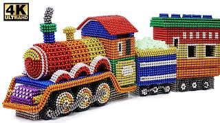 DIY - How To Make Colored Harry Potter Train From Magnetic Balls ( Satisfying ) | Magnet World 4K