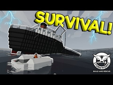 EXTREME WEATHER CUTS SHIP IN HALF! - Stormworks: Build And Rescue Gameplay - Sinking Ship Survival