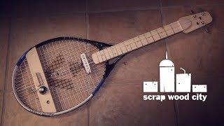 DIY tennis racket electric guitar
