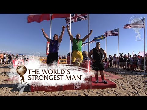 2007: Atlas Stones - Pudzianowski v Pfister | World's Strongest Man
