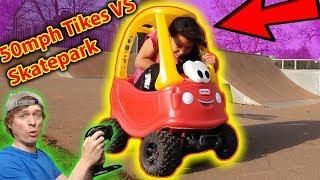 Kid Rides 50 mph RC Little Tikes Cozy Coupe Car - LOL