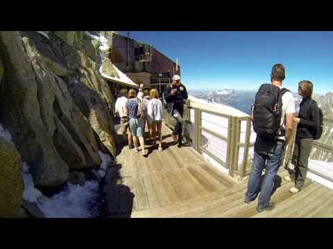 "Daytrip to the ""Aguille du Midi - Chamonix, Mont Blanc, HD movie"