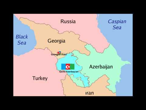 Armenia Map  карта армении  / Great Azerbaijan Азербайджанская земля