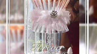 Dollar Tree DIY Hacks Lamp Wedding Bridal Shower Or Baby Shower Home Decor Centerpiece Ideas 2017
