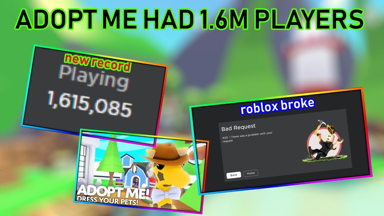 Adopt Me Broke The Roblox Concurrency Record 1 6m Players Youtube