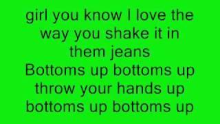 Trey Songz - Bottoms Up (Ft. Nicki Minaj) ON-SCREEN LYRICS
