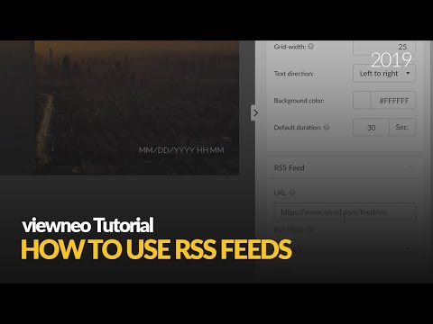 How To Create RSS Feeds: With Viewneo Digital Signage