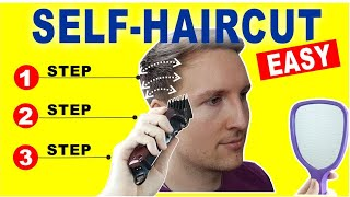 HOW TO CUT YΟUR OWN HAIR | Quick and Easy Home Self Haircut Tutorial
