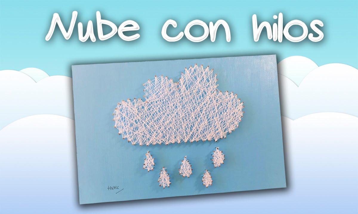 Cuadro con CLAVOS E HILO * Nube y lluvia - YouTube