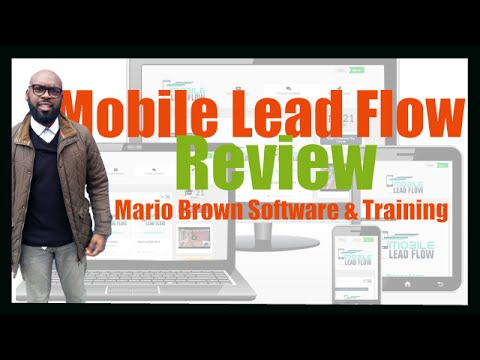 Mobile Lead Flow Review | Mario Brown Mobile Lead Flow Software & Training