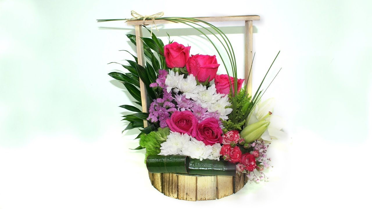 How to make simple flower basket