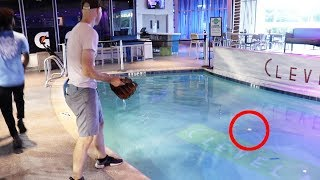 Would YOU have jumped in the pool for this baseball at Marlins Park?