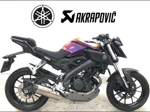yamaha mt 125 akrapovic exhaust sound only cameleon. Black Bedroom Furniture Sets. Home Design Ideas