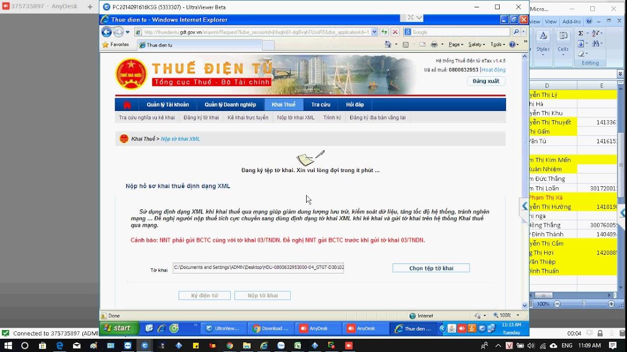 Hướng dẫn đăng kí và nộp tờ khai Thuế GTGT + Thuế TNDN