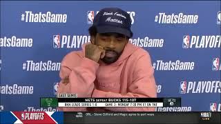 Kyrie Irving Post Game Press Conference Game 1 vs Bucks NBA Playoff 2021