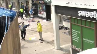 Early scenes of aftermath of Boston Marathon blast