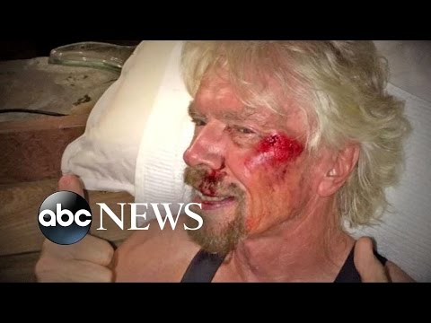 Richard Branson Survives Near-Fatal Bike Accident