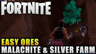 "Fortnite Guide ""How To Get Malachite"" Fortnite Easy Crafting Material Farming"