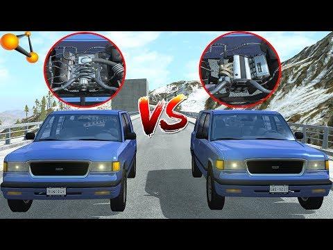 Мощность ИЛИ Крутящий МОМЕНТ? | I4 VS V8 - BeamNg Drive