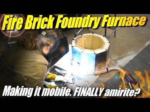 Make a Fire Brick Foundry Furnace, Part 5: Welding a Metal Wheeled Cart To Move It
