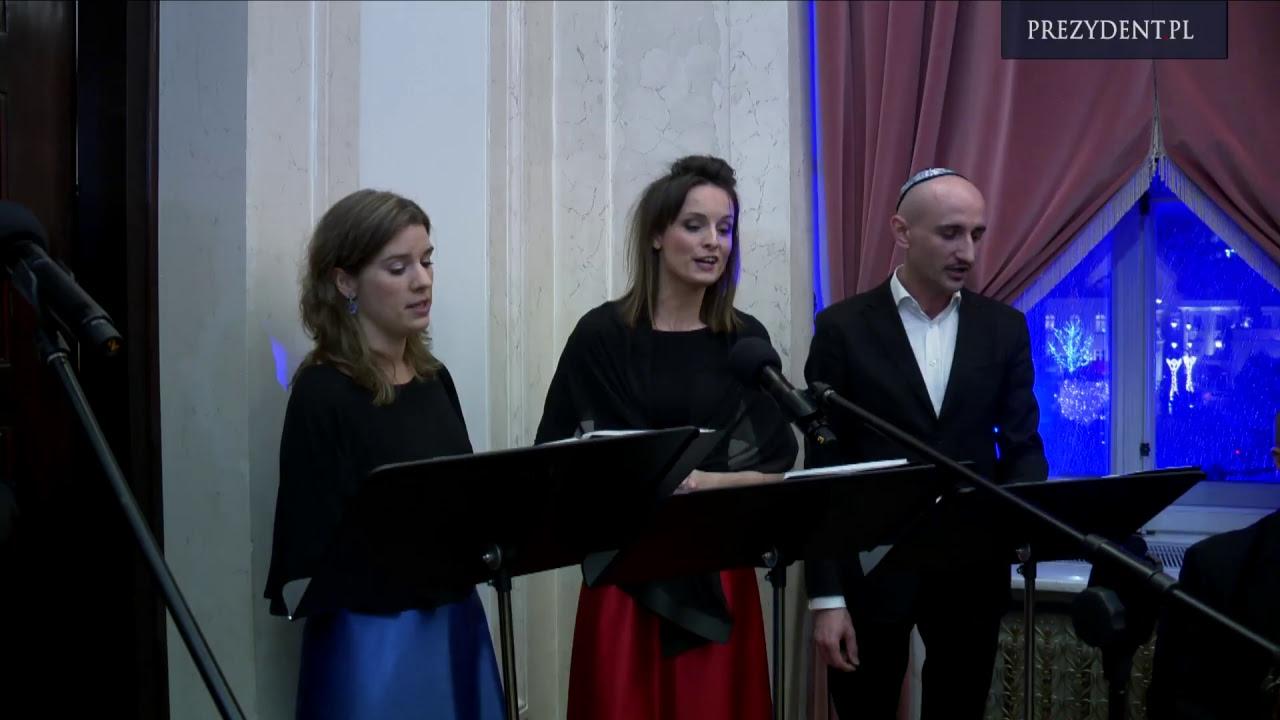 Uroczystość zapalenia świec chanukowych z udziałem Pary Prezydenckiej