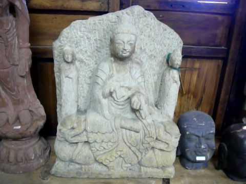 Stone Statue Buddha of Wisdom / PRAJNAPARMITA y537