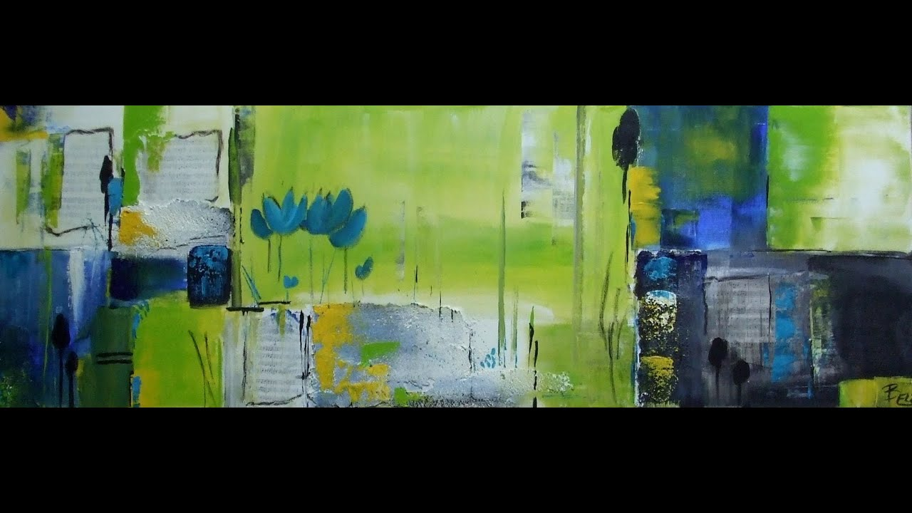 Acrylmalerei abstract abstrakt fr hling springtime - Acrylmalerei ideen ...