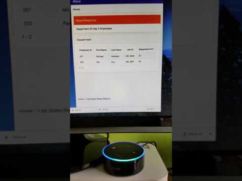 Alexa and Apex working together.
