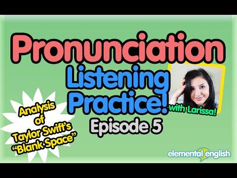 "Pronunciation + Listening Practice | Ep. 5 | Taylor Swift's Blank Space ""Starbucks Lovers"""