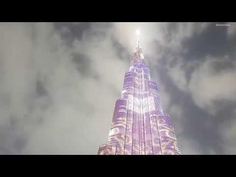 Dubai Burj Khalifa Clouds Time-Laps, Spectacular!