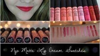 Nyx Soft Matte Lip Cream Swatches All 13 Colors