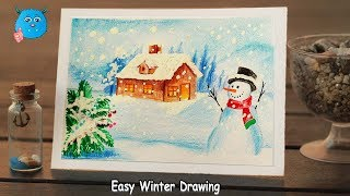 Download How To Draw Winter Season Scenery Step By Step