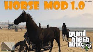 Horse Mod 1.0 - Лошадь в GTA 5 ( установка и обзор )