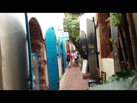 The Narrow Walkways Of Downtown Charlotte Amalie, St Thomas