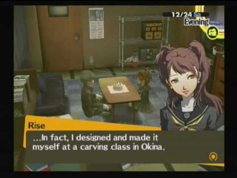 Persona 4 - Christmas Eve Date - Rise - YouTube
