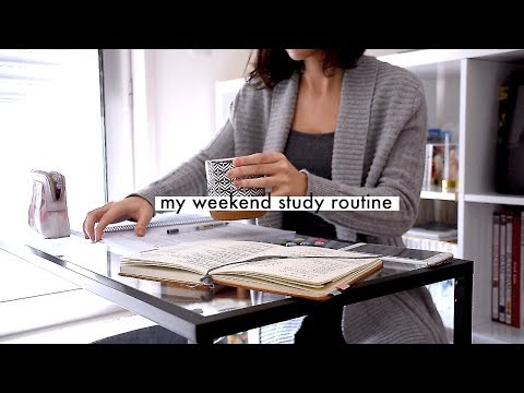 WEEKEND STUDY ROUTINE // organising study sessions