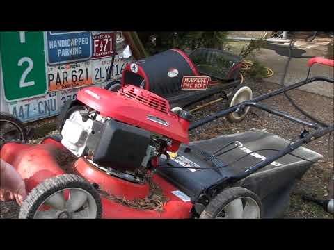 7 MINUTE Engine SWAP on a JUNKYARD Lawnmower! By Jeff. HONDA engine, TROY-BILT frame