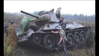 Раскопки огнеметного танка Великой Отечественной войны - ОТ-34/76