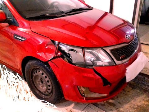 Киа Рио ремонт кузова в Нижнем Новгороде KIA Rio Auto Body Repair.
