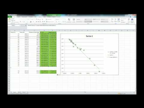How to calculate the error in a slope using excel