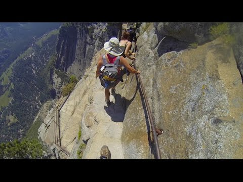 Yosemite Falls Trail The Scary Part 2015 Youtube