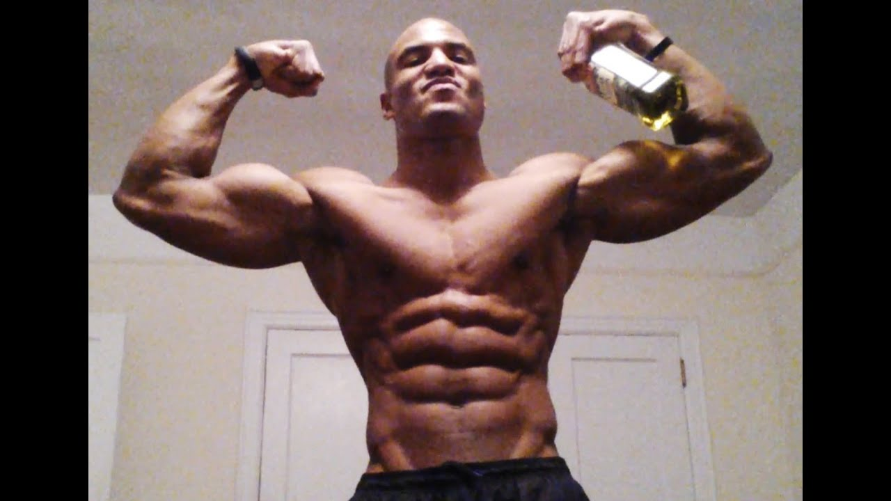 drink olive oil to build muscle mass faster (big brandon