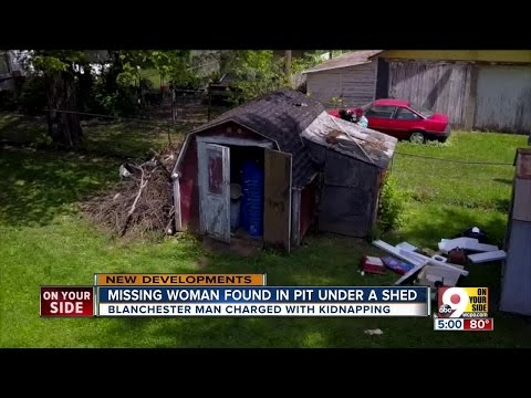 Neighbors shocked after missing Blanchester, Ohio woman rescued from pit under shed