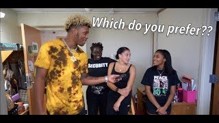 Which Do Girls Prefer? Black Or White Guys | College Edition